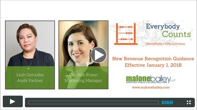 New Revenue Recognition Guidance with Leah Gonzales