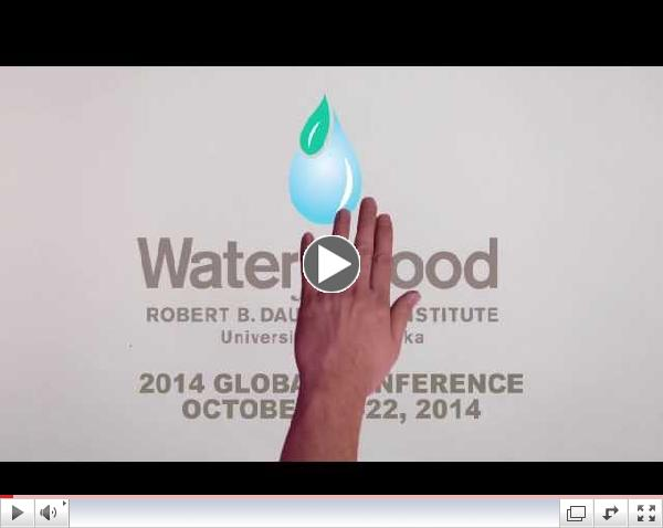 Water for Food 2014 Global Conference Save the Date