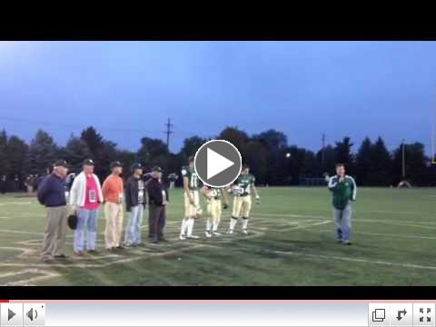 NDHS Class of 1962 Football Players Honored at ND Prep Game on September 21