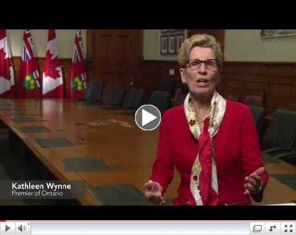 Premier Wynne's Greeting for Teachers of English as a Second Language