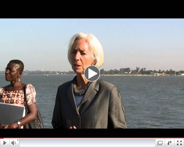 Africa Rising: Christine Lagarde visits Maputo Port