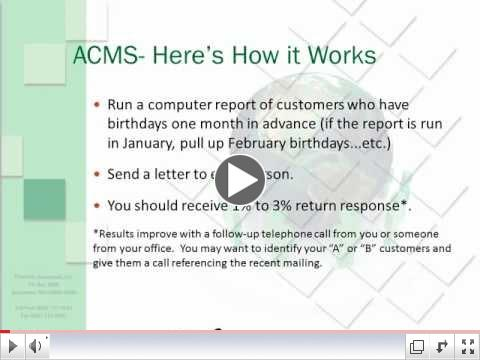 The Age Change Marketing System (ACMS)