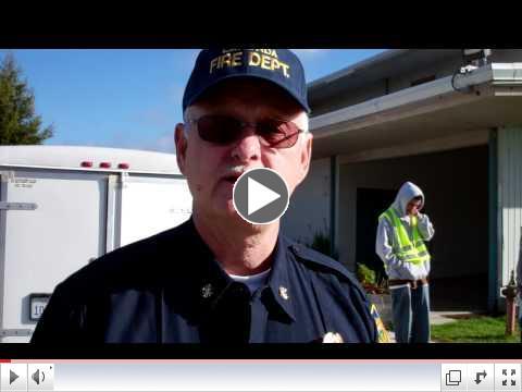 La Honda Fire Captain comments on Youth CERT Team in Tsunami evacuation