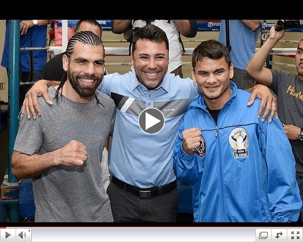 Oscar De La Hoya talks about Josesito Lopez vs Marcos Maidana and Angulo vs Lara