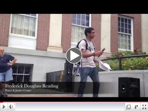 Reading Frederick Douglass in Burlington, 2014