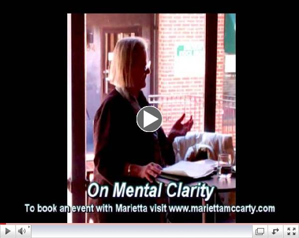 Snapshot of an event with Marietta McCarty