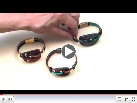 How to Make an Urban Raku Bracelet with 2 Strips of Leather