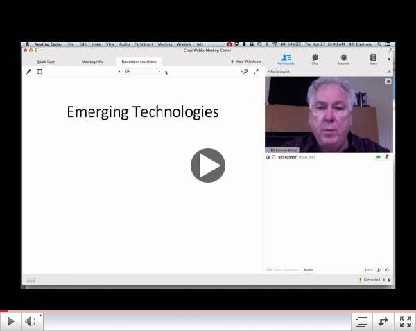 Bill Connors  discusses technology. November 2014