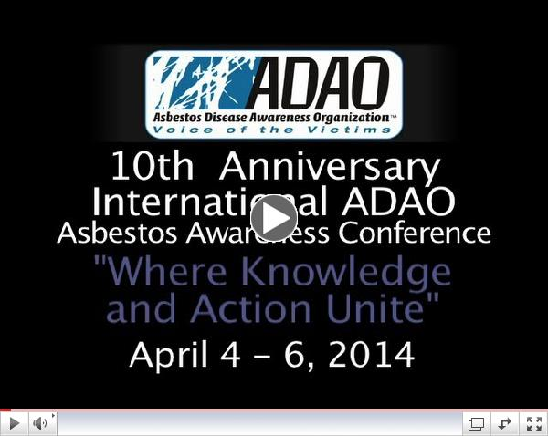 10th Annual International Asbestos Awareness Conference: April 4 - 6, 2014