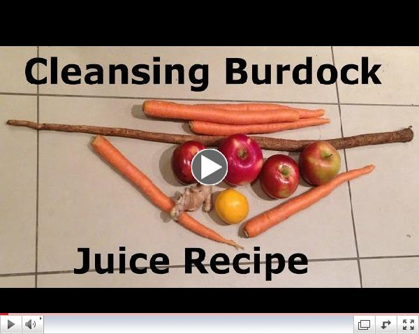 Cleansing Burdock Juice