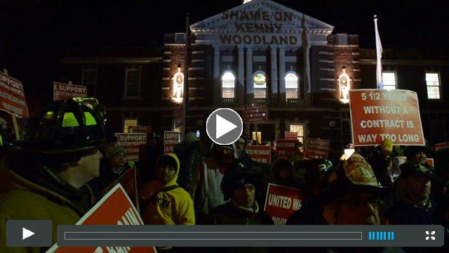 Watertown Firefighter Union Rally