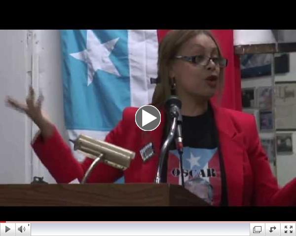 Zelideth Diaz Hatch por la Libertad de Oscar Lopez Rivera  video por Jose Rivera 1:19:14