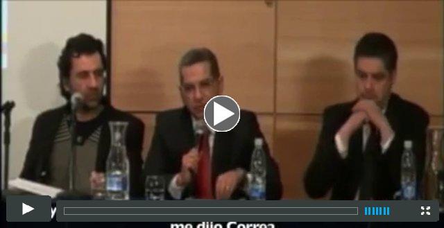 Alvarado y Correa dan cátedra de periodismo amarillo.