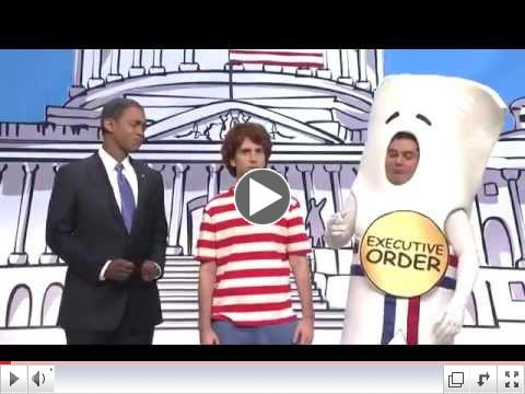 Saturday Night Live Capitol Hill Cold Open. Obama Schoolhouse Rock Immigration Bill. SNL