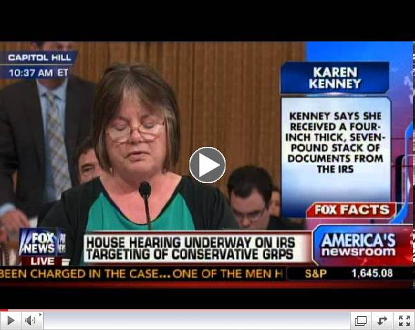 Karen Kenney Testifies at Hearing on IRS Abuses of Power