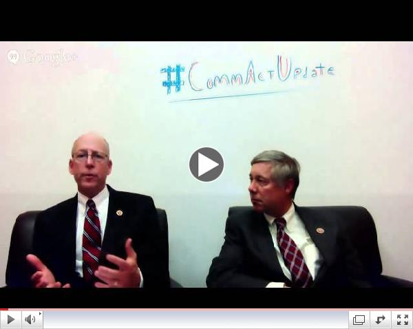 Hangout with Chairman Upton and Rep. Walden