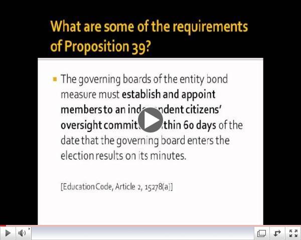 CaLBOC Training Video Lesson 1: Proposition 39