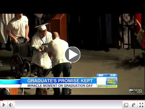 Paralyzed Teen Fulfills Vow To Walk At High School Graduation