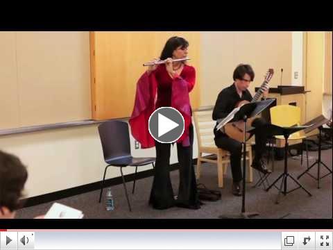 Pavane by Faure, flute & guitar,Viviana Guzman & Jeremy Jouve