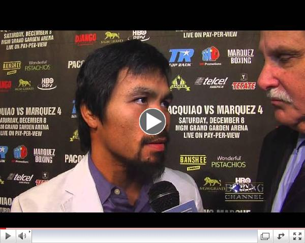 Manny Pacquiao ready for Marquez, says Marquez is the one that needs to prove something on Saturday.
