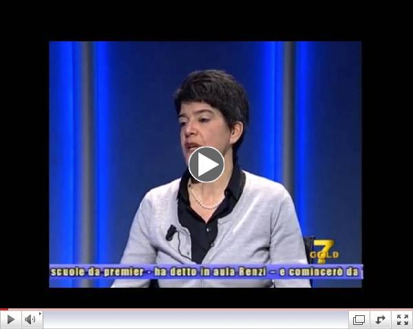 Cristina Turchet live on Telepadova - 7Gold presenting the 22nd edition of the MBA Program.