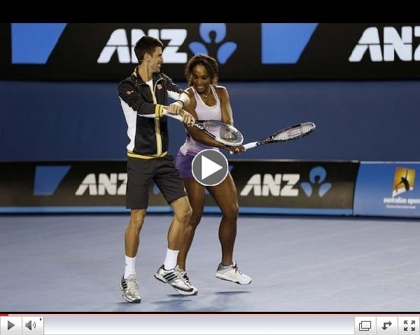 Djokovic Serena Gangnam Style in Australian Open