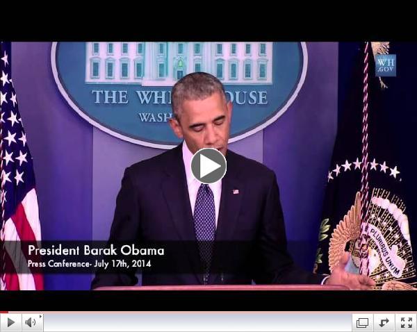 JAC NEWS: Obama on Israel 7-17-14