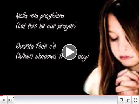 The Prayer with Lyrics - Sung by Rhema Marvanne