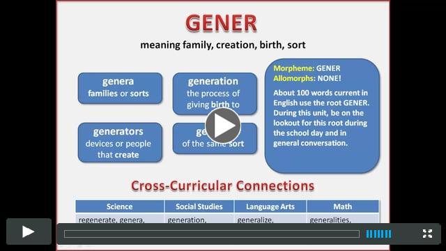 The root GENER