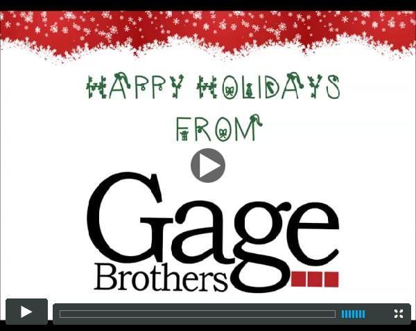 The Holiday Edition of the Gage E-Page