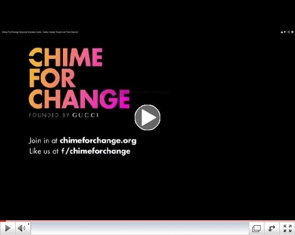 Chime For Change: Beyoncé Knowles-Carter, Salma Hayek Pinault and Frida Giannini