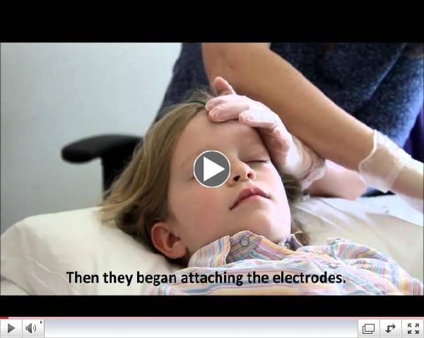 EEG test for seizures in children