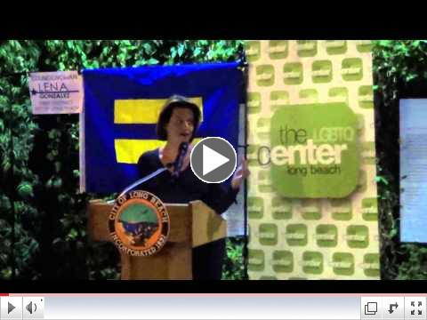 Alexandra Billings at LB TDOR