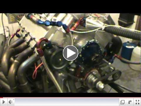 KRE WARP 6 headed 535 cid Pontiac engine idel on dyno
