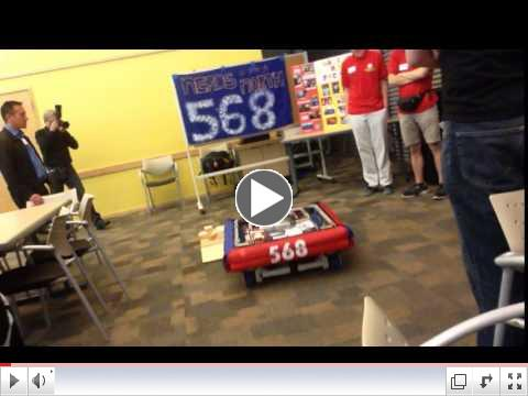 One of the robot demos from Team #569