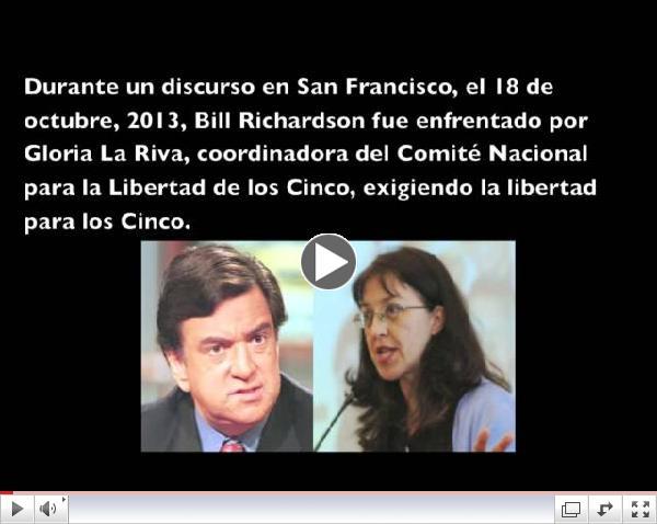 Gloria La Riva confronta a BIll Richardson en el caso de los Cinco Cubanos