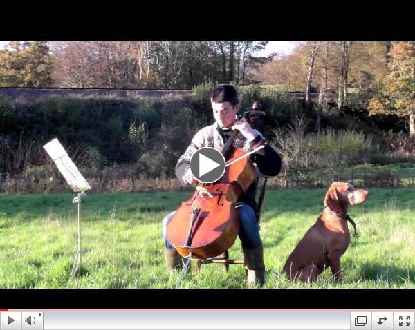 Cellist George Delfas plays