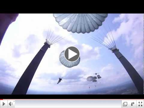173rd Airborne Paratrooper Parachutes from C-130 Hercules