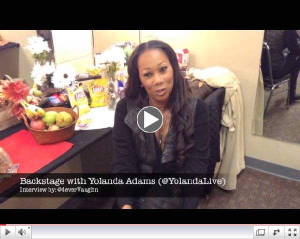 Yolanda Adams Backstage at 2013 How Sweet The Sound in Atlanta [Interview & Performance]