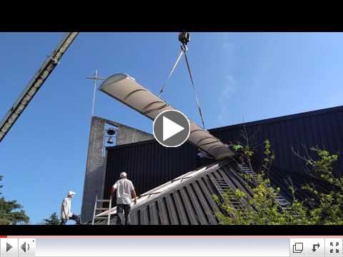 Real Time Skylight Installation, September 28, 2016