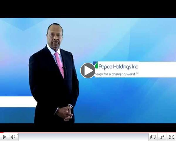 Reginald McCauley, Director of Supply Chain for Pepco Holdings Incorporated,