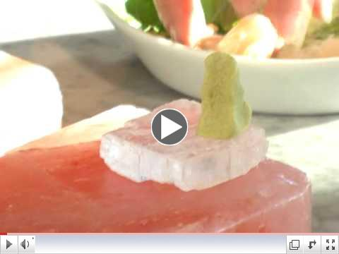 Tuna Sashmi on Himalayan Salt Block