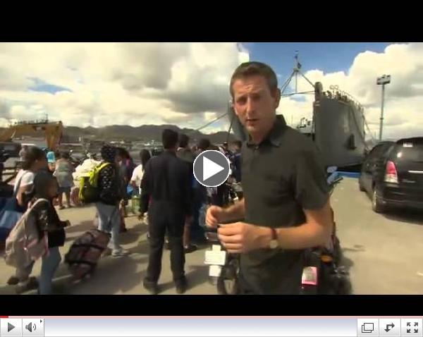 TYPHOON HAIYAN - AID FINALLY ARRIVES - BBC NEWS