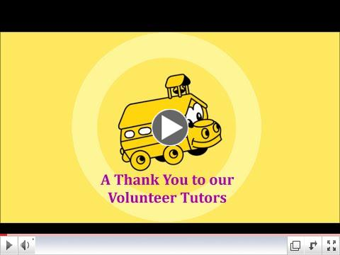 A Thank You to our Volunteer Tutors