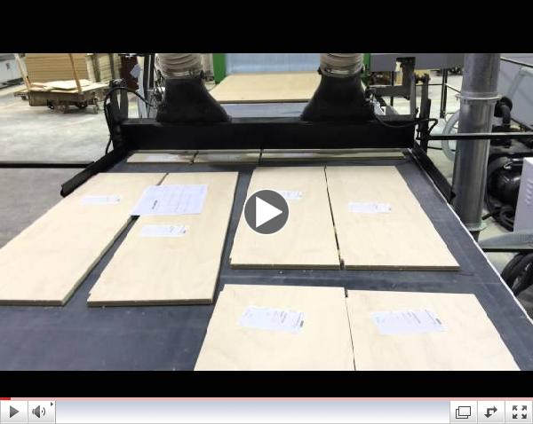 CNC Unloading Machined PLywood