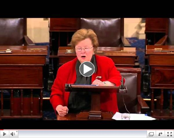 Dem Sen. Barbara Mikulski's Reaction to Paycheck Fairness Act's Failure