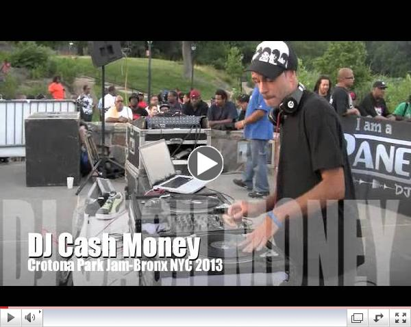 DJ CASH MONEY live at the 2013 CROTONA PARK JAMS, Bronx NYC