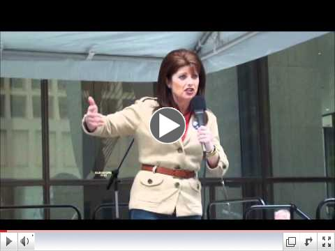 WI Lt. Gov. Rebecca Kleefisch speaks at the Chicago Tax Day Tea Party