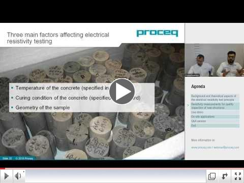 Proceq Webinar: Resistivity measurements for quality inspection of new structures.