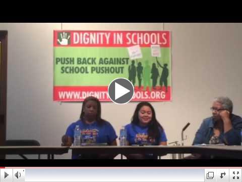 Savina Tapia at DSC charter accountability press conference
